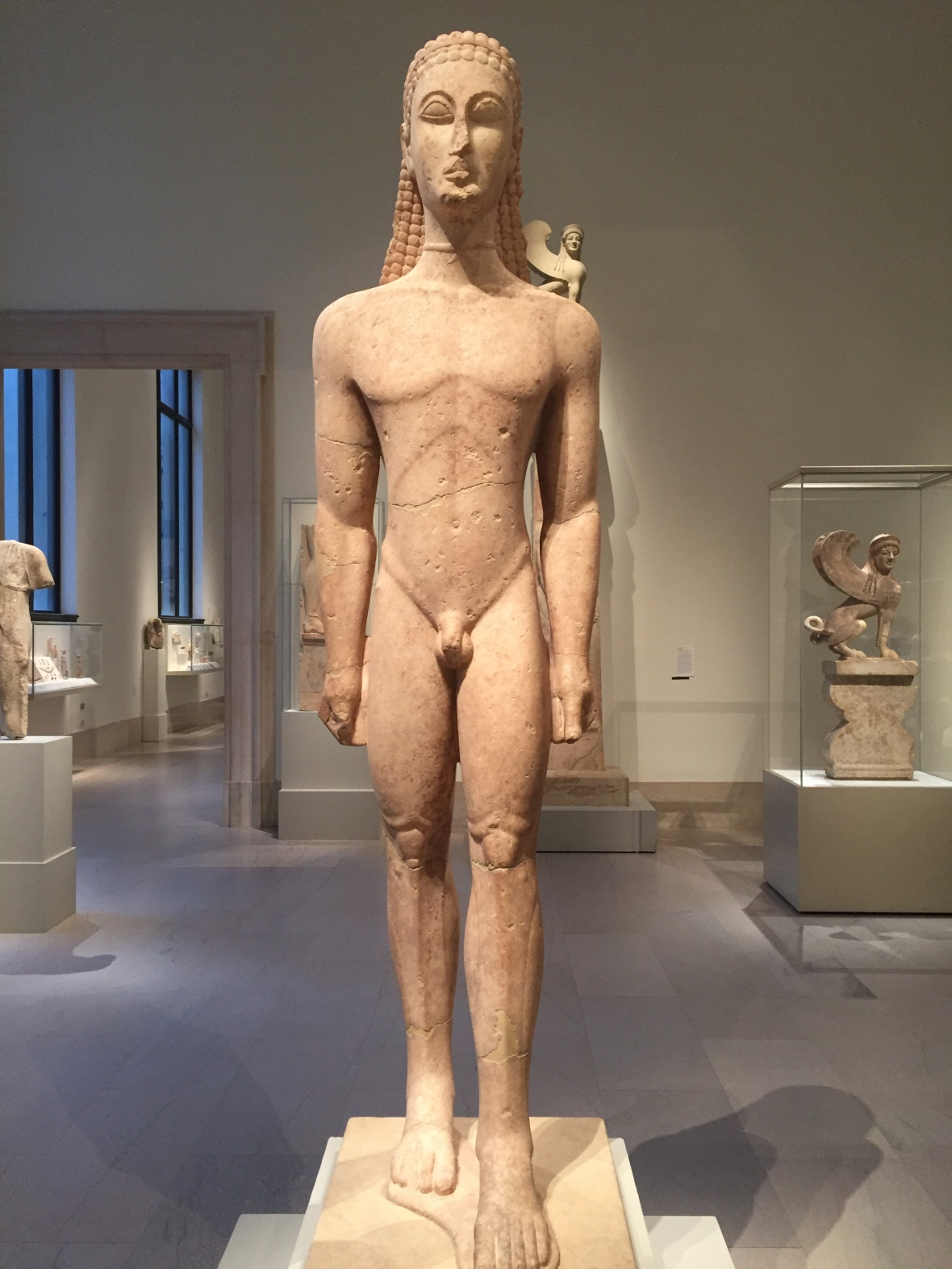 Kouros from Attica, Greece, 600 BCE