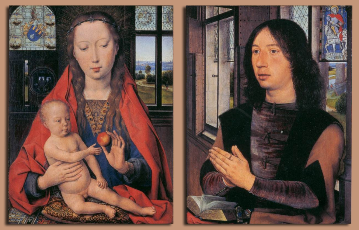 Hans Memling, Diptych of Maarten van Nieuwenhove, 1487