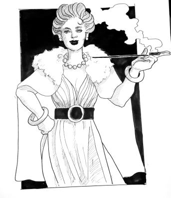 1920's style woman