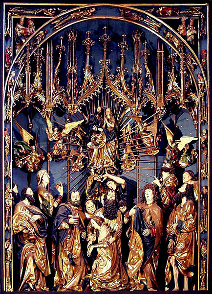Death of Mary with 12 Apostles