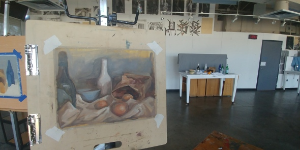 still life with painting