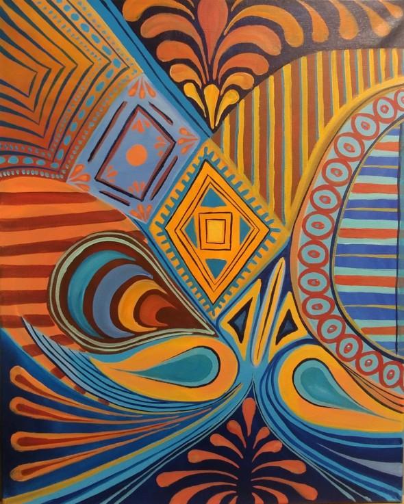 Orange and Blue Patterns