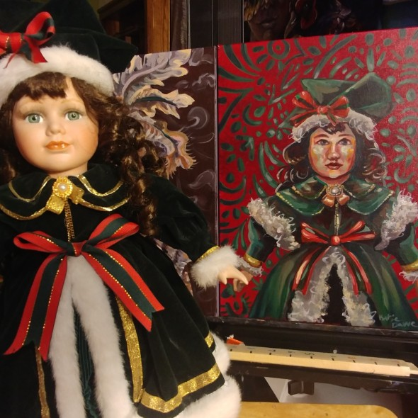Christmas doll with reference