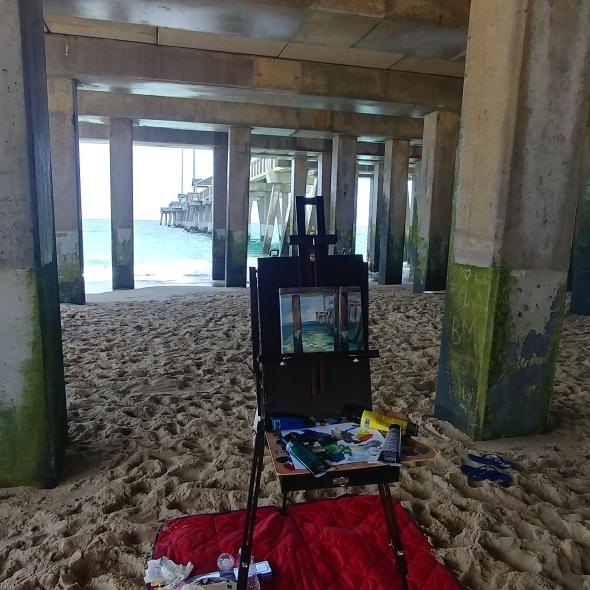 painting at beach 2
