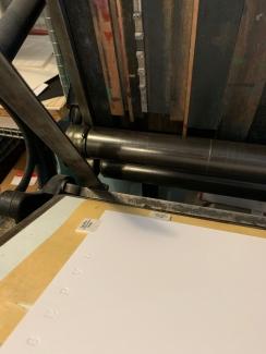 Working the letterpress